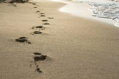 Empreintes de pas sur le sable Image libre de droits