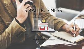 Empresário Conc da posse dos produtos do nicho de mercado da empresa de pequeno porte fotos de stock