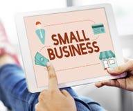 Empresário Conc da posse dos produtos do nicho de mercado da empresa de pequeno porte Imagem de Stock