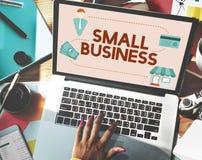 Empresário Conc da posse dos produtos do nicho de mercado da empresa de pequeno porte imagens de stock