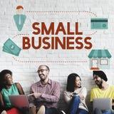 Empresário Conc da posse dos produtos do nicho de mercado da empresa de pequeno porte fotos de stock royalty free
