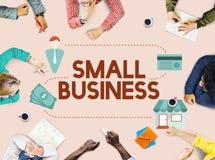 Empresário Conc da posse dos produtos do nicho de mercado da empresa de pequeno porte Foto de Stock