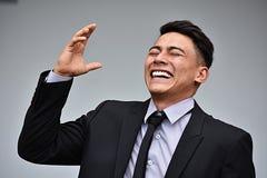Empresário esperto And Laughter foto de stock