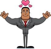Empresário Hug dos desenhos animados ilustração do vetor