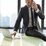 Empresário Motivation Objetive Concept do homem de negócios Imagens de Stock