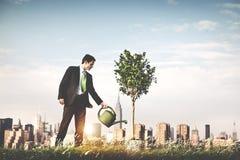 Empresário Profit Beginning Concept do homem de negócios fotografia de stock royalty free