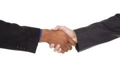 Empresários - aperto de mão do close up Foto de Stock Royalty Free