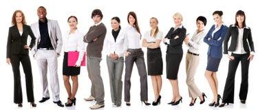 Empresários bem sucedidos que sorriem à câmera Imagem de Stock Royalty Free