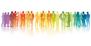 Empresários coloridos Imagem de Stock