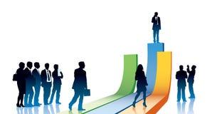 Empresários com pressa Imagens de Stock