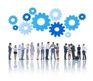 Empresários e conceitos de uma comunicação empresarial foto de stock