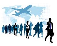 Empresários em uma pressa Imagem de Stock Royalty Free