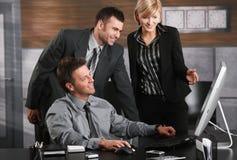 Empresários felizes Fotos de Stock