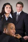Empresários focalizados fotografia de stock royalty free