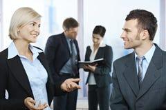 Empresários na discussão Imagem de Stock Royalty Free