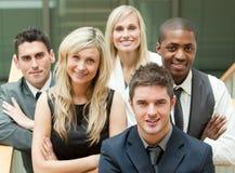 Empresários no escadas foto de stock royalty free