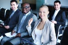 Empresários no seminário Fotos de Stock Royalty Free