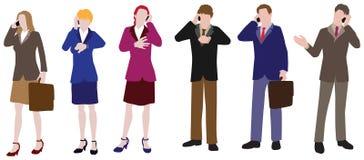 Empresários: No telefone ilustração royalty free