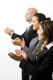 Empresários que aplaudem Fotografia de Stock Royalty Free