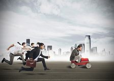 Empresários que competem Imagens de Stock Royalty Free