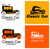 Empresa automóvel clássica Logo Set Fotografia de Stock Royalty Free