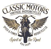 Empresa clássica da motocicleta do vintage Foto de Stock