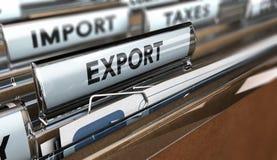 Empresa da exportação da importação imagens de stock royalty free