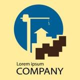 Empresa de construção civil do logotipo Fotografia de Stock Royalty Free