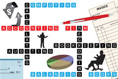 Empresa de contabilidad stock de ilustración