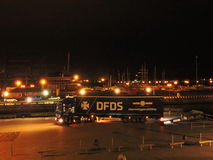 A empresa de DFDS comemora 150 anos de aniversário do serviço em Klaipeda, Lituânia Imagem de Stock Royalty Free