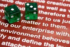 Empresa de juego Imagen de archivo libre de regalías