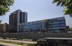 Empresa de negócio de Graña y Montero, de construção e de engenharia fotografia de stock