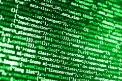Empresa de negocios de las TIC Pantalla abstracta del software Código abstracto de la escritura del ordenador Base de datos grand ilustración del vector