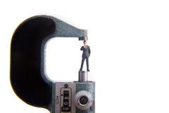 Empresa de pequeno porte de medição fotografia de stock royalty free