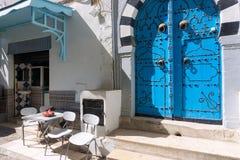 Empresa de pequeno porte no Medina em Sousse, Tunísia foto de stock royalty free