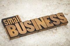 Empresa de pequeno porte no tipo de madeira Imagem de Stock Royalty Free