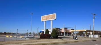 Empresa de transportes de Schneider, Memphis del oeste, Arkansas Foto de archivo