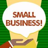 Empresa del texto de la escritura pequeña Tienda del significado del concepto pequeña que comienza al empresario Studio Store de  libre illustration