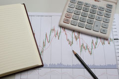 Empresa do gráfico de negócio, ou troca Imagem de Stock