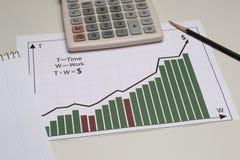 Empresa do gráfico de negócio, ou troca Fotografia de Stock