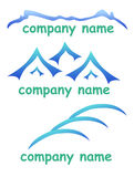 Empresa do logotipo da montanha ilustração stock