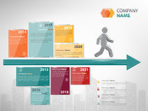 Empresa do marco miliário e do espaço temporal infographic ilustração royalty free