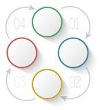 Empresa do relatório do processo do diagrama do molde do menu Imagens de Stock
