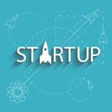 Empresa nova do projeto do sucesso Startup, plano do negócio do desenvolvimento Imagem de Stock