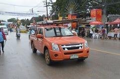 Empresa pública del BEBÉ de la camioneta pickup de los servicios de transporte limitada fotos de archivo libres de regalías