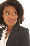 Empresaria africana atractiva fotos de archivo libres de regalías