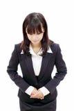 Empresaria asiática joven Imagen de archivo libre de regalías
