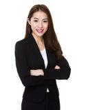 Empresaria asiática joven Foto de archivo libre de regalías