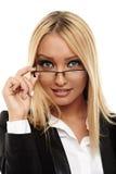 Empresaria atractiva Imagen de archivo libre de regalías