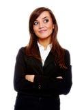 Empresaria atractiva con sus brazos cruzados Fotografía de archivo libre de regalías